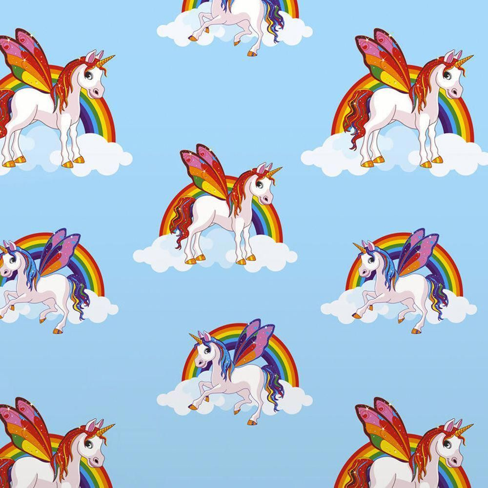 Best Rainbow Unicorns Wallpaper Blue 6304 Unicornbedroom In 400 x 300