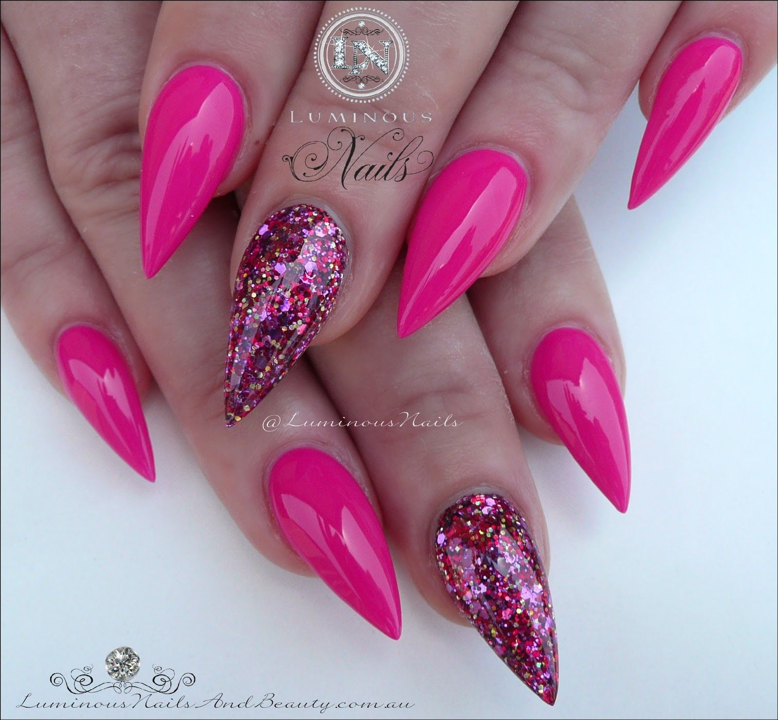 Luminous+Nails+%26+Beauty%2C+Gold+Coast+QLD.+Fuchsia+Pink+Nails%2C+ ...