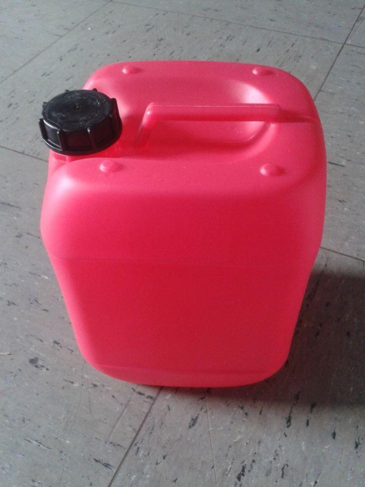 Kunststoff Kanister Weiss Rot 10 L Mit Deckel Gebraucht Ohne