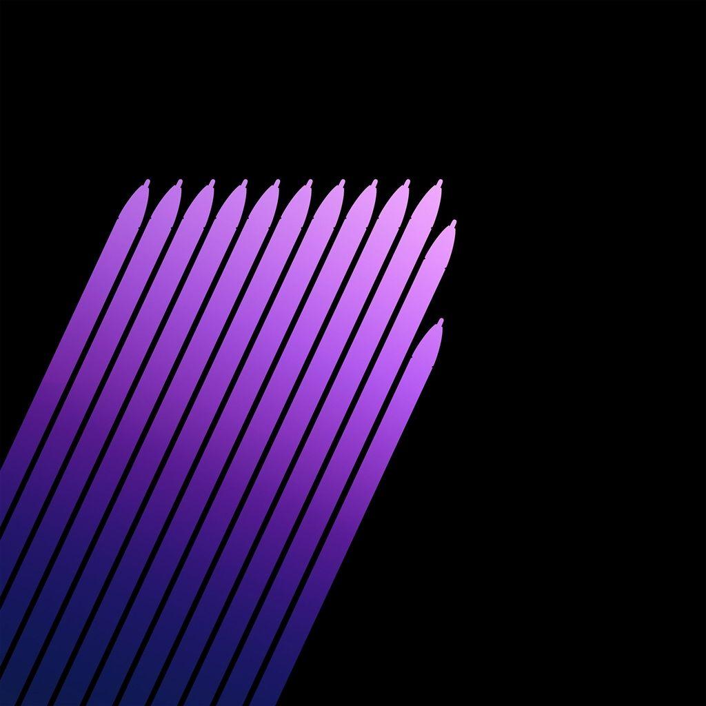 Note 7 Galaxy Art Pen Dark Purple Pattern Retina IPad Air Wallpaper