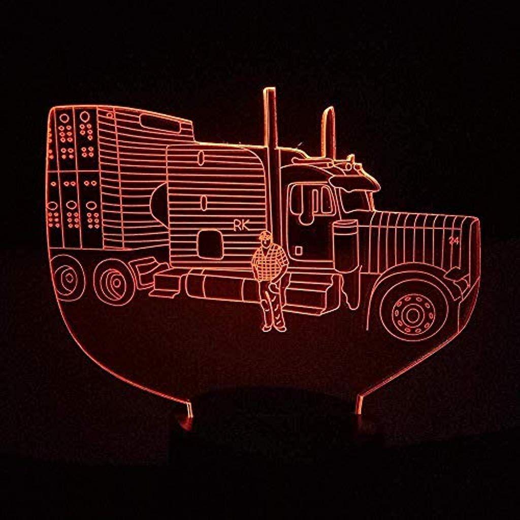 Bzl Pop 3d Slideshow3d Nachtlicht Auto 3d Illusion Led Traktor Nachtlicht Batterie Netzteil Tischlampe Bunte Stimmung Be Nachtlicht Tischlampen Partydekoration