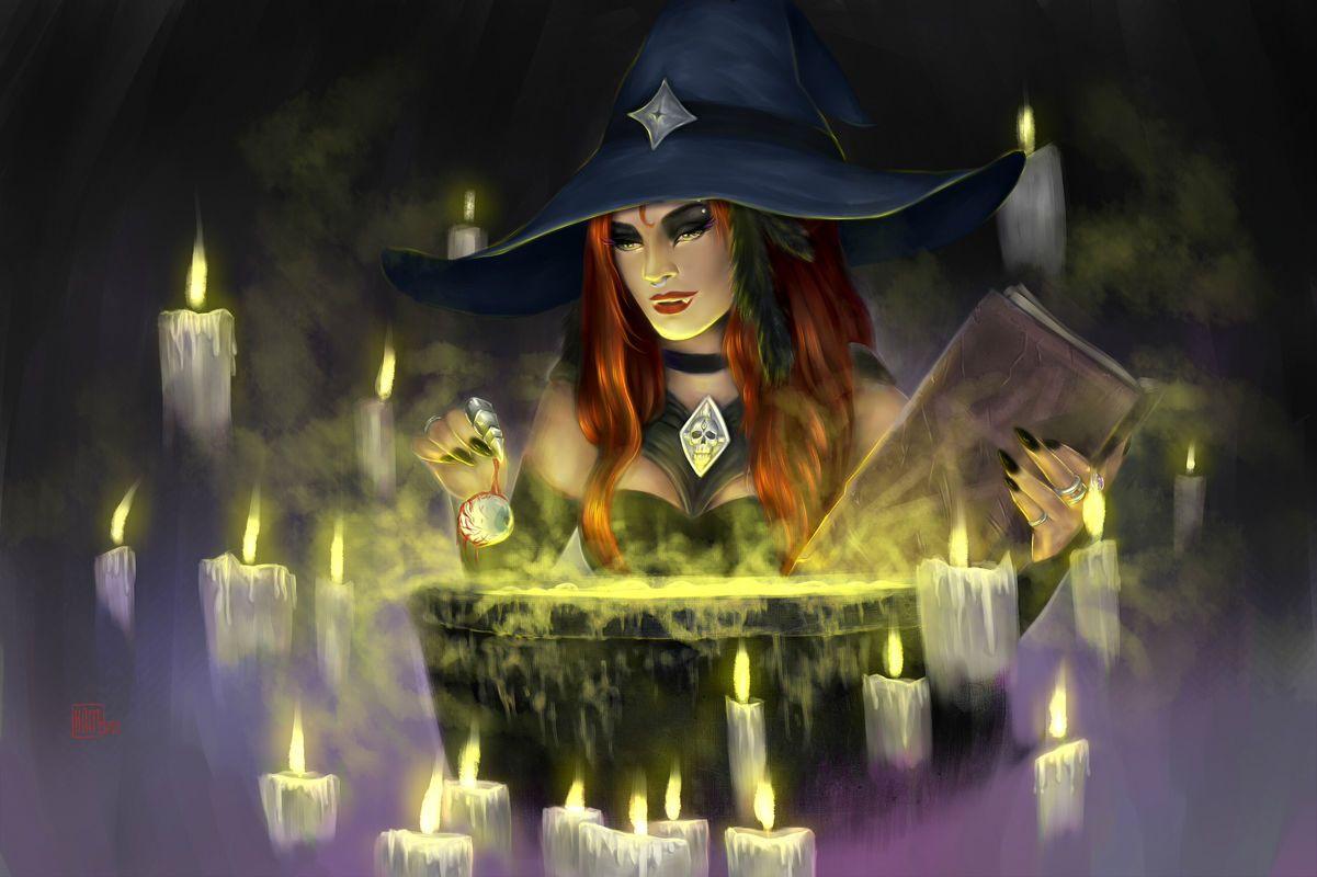 Магические картинки ведьм