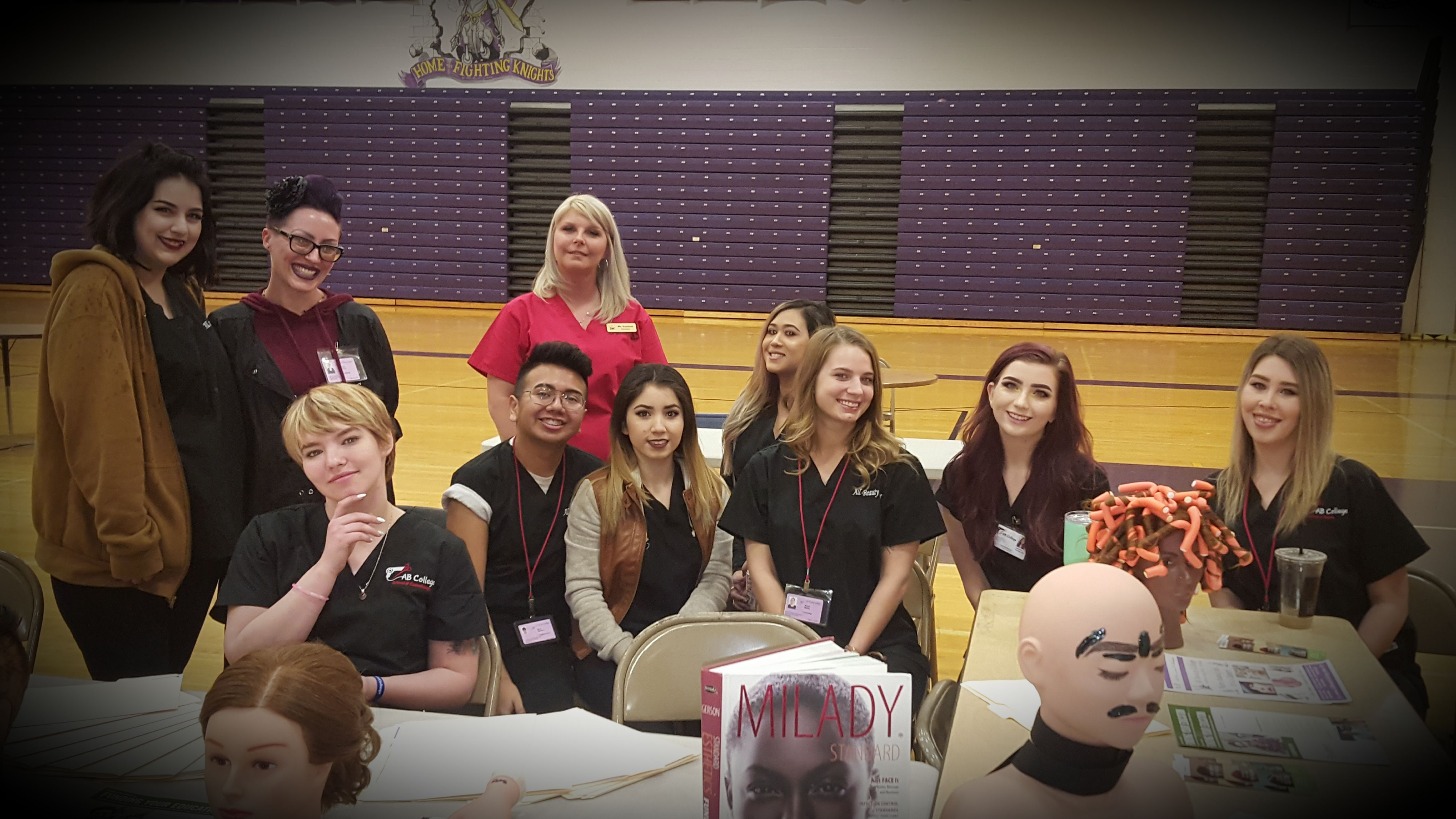 All beauty college was on hand today for lake havasu high