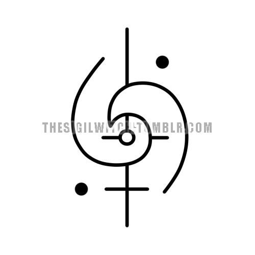 sigil i conquer my fears symbole siegel pinterest runen symbole und spirituelle symbole. Black Bedroom Furniture Sets. Home Design Ideas