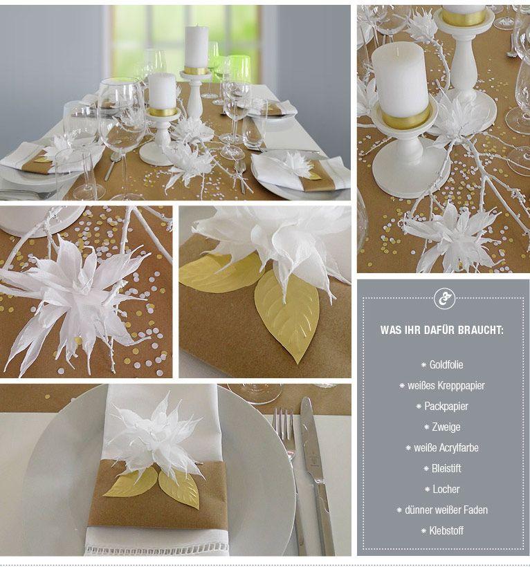 DIY: Hochzeitsdeko In Weiß Und Gold Selber Machen Von Deko Kitchen U2013 Deko
