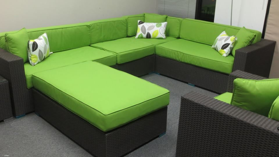 Lime Green Sectional 7 X 10 With A