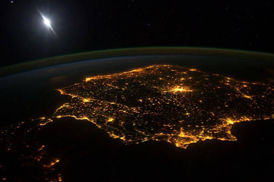 Spain, as seen from the International Space Station (NASA)