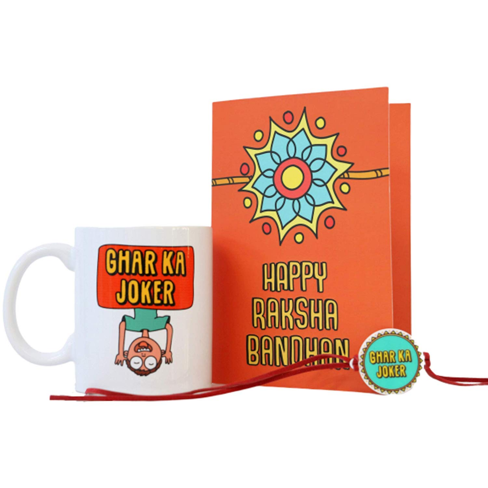Buy Rakhi Combo Pack For Brother Acrylic Rakhi Greeting Card Coffee Mug With Funny Quote Ceramic Microwave Safe Superlifest Mugs Greetings Greeting Cards
