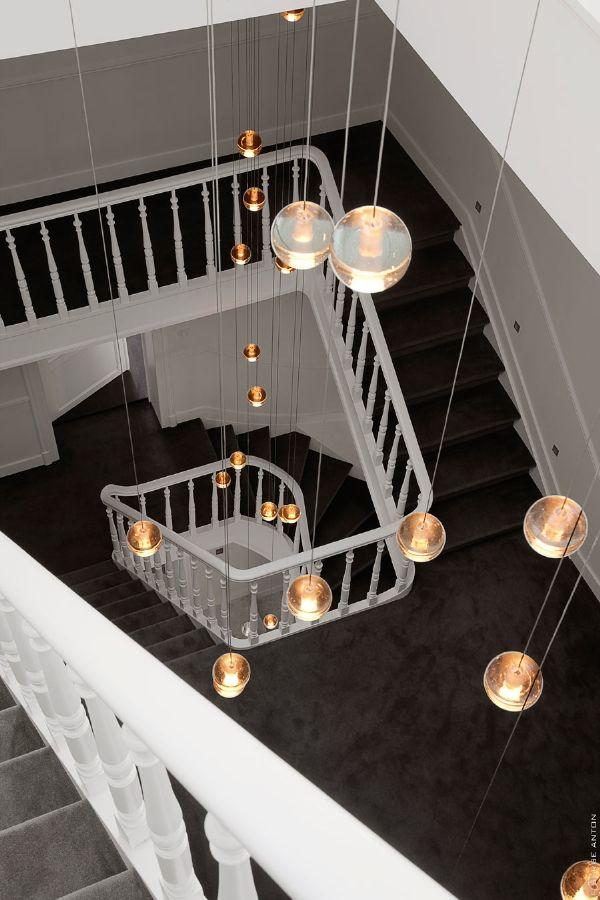 multistory pendant lighting at tenbosch house my style pinterest