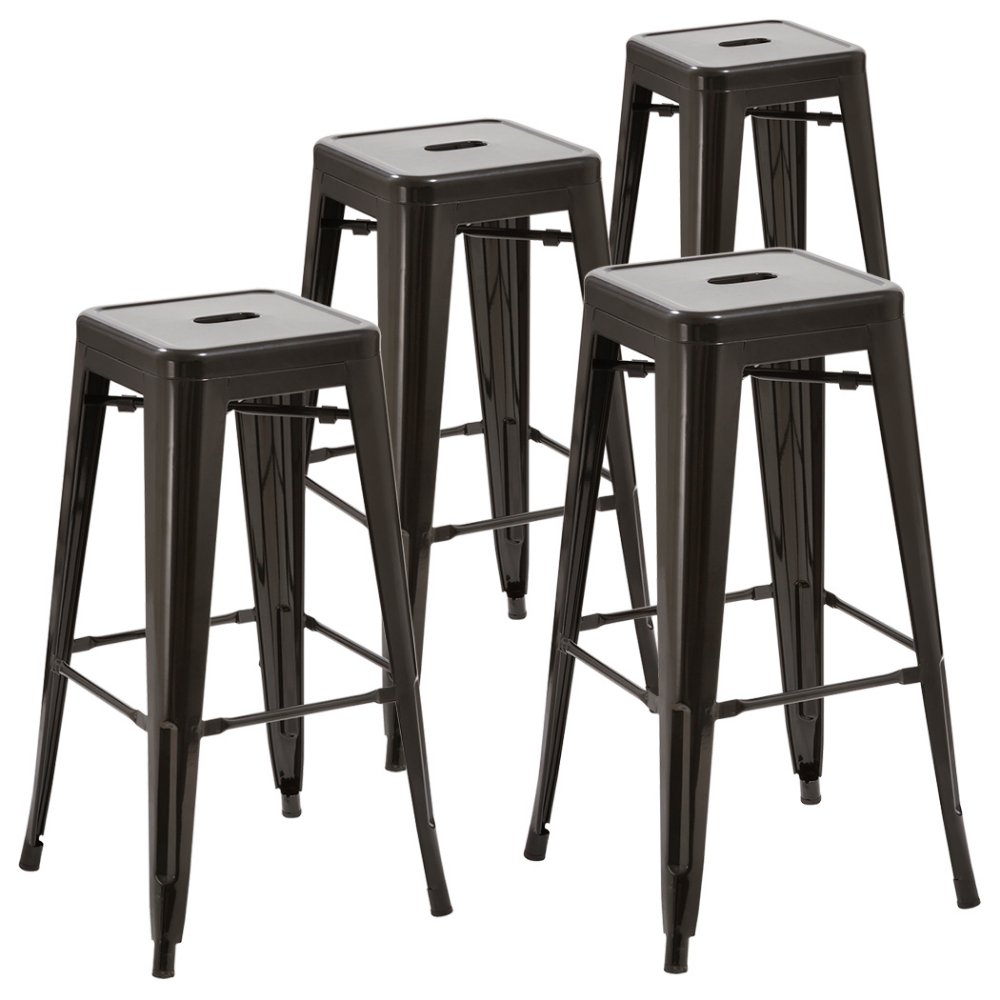 Duhome Set of 9 Metal Bar Stools Counter stools Outdoor Stackable ...