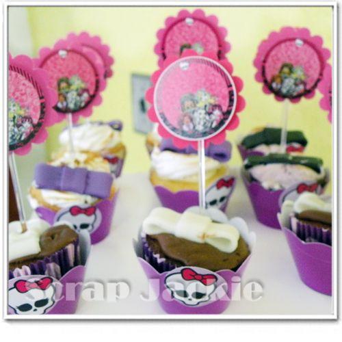 Topper e Wrapper para festa monster high - venda de papéis e peças na loja virtual www.scrapjackie.com