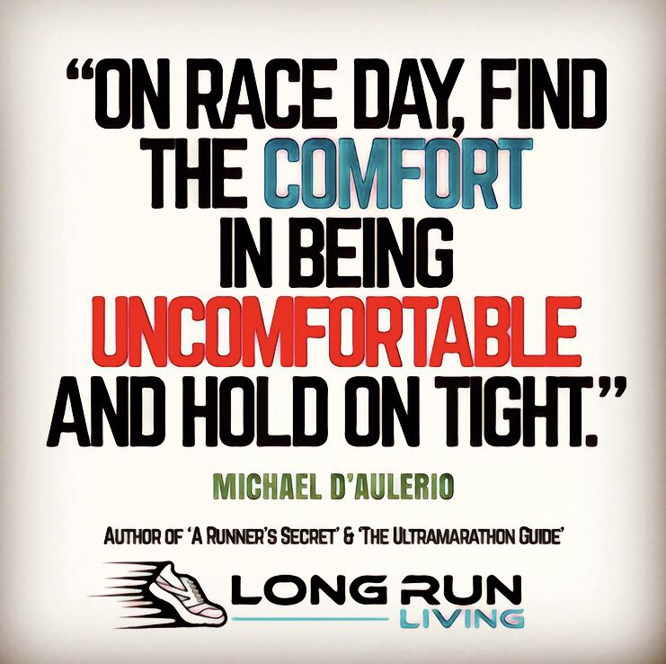 On Race Day Find The Comfort In Being Uncomfortable And Hold On