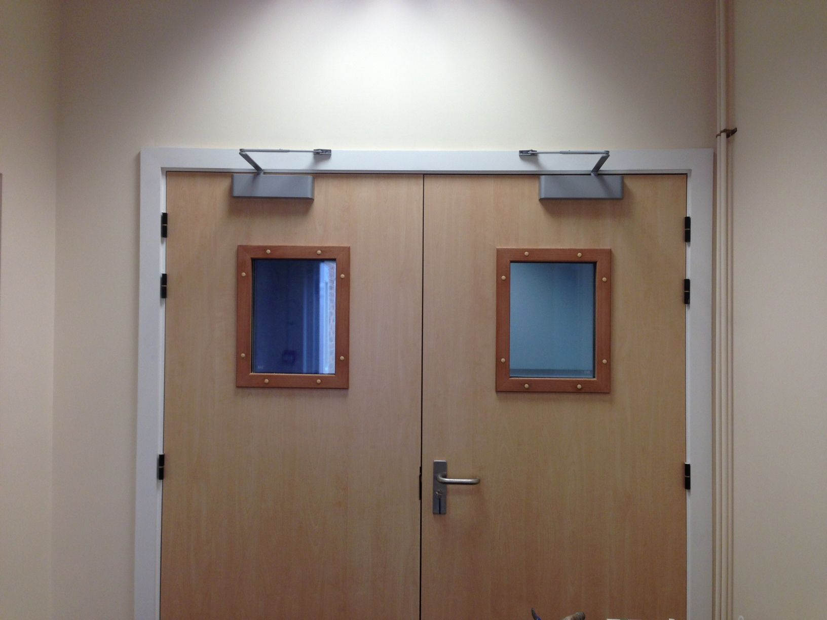 Fire Rated Acoustic Doors With Door Closer And Smoke