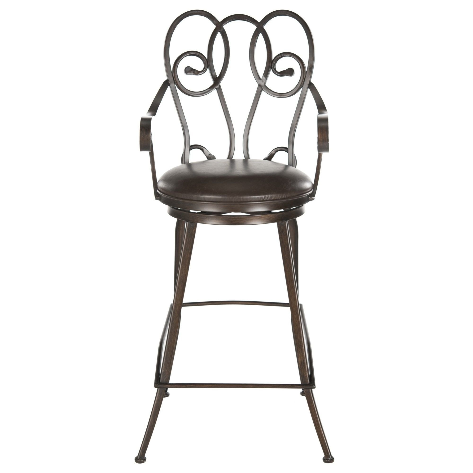 Montrouge 30 5 Quot Swivel Bar Stool With Cushion Wicker Bar