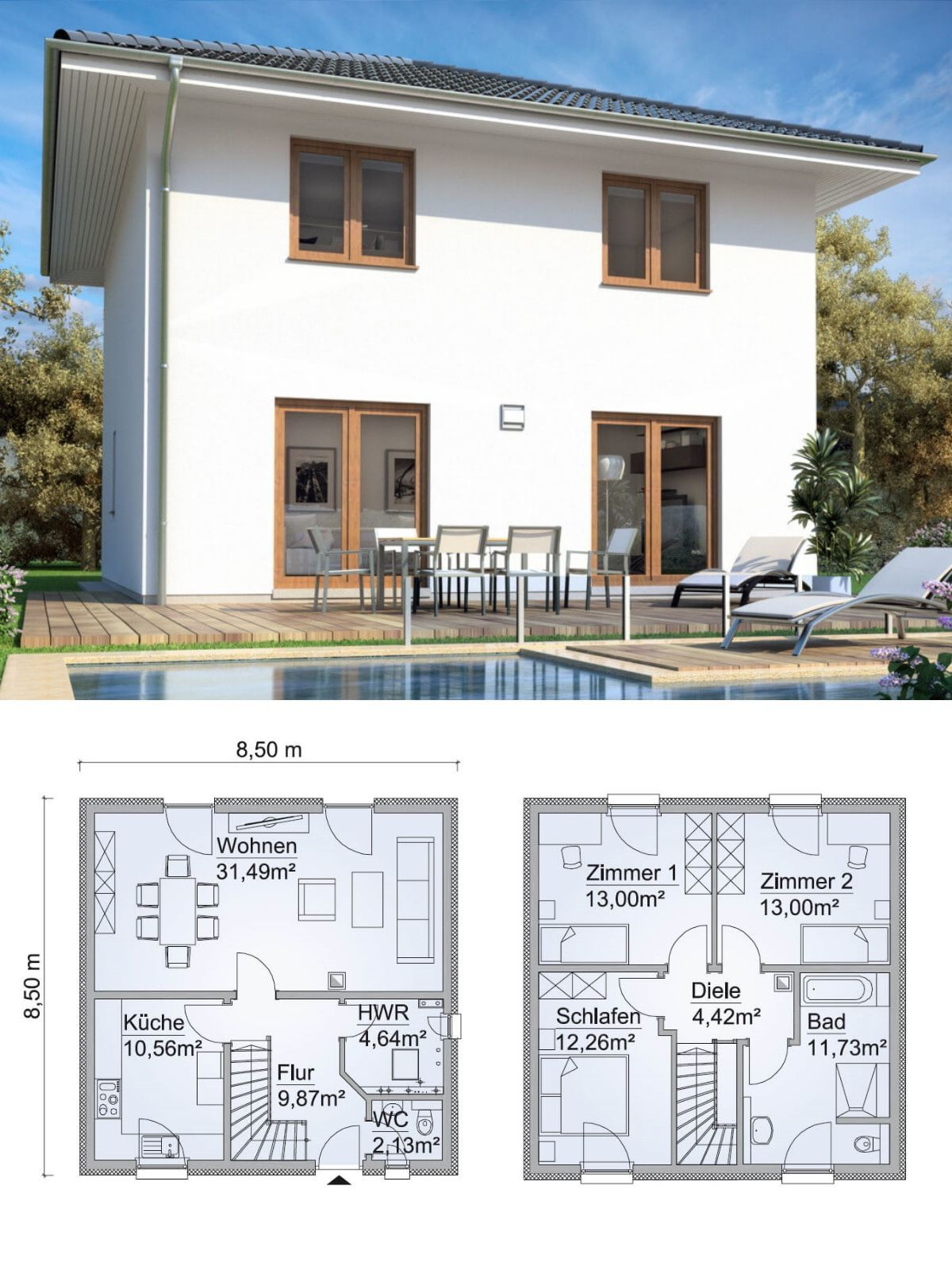 Haus flur design-ideen eng stadtvilla neubau modern mit zeltdach architektur  haus bauen