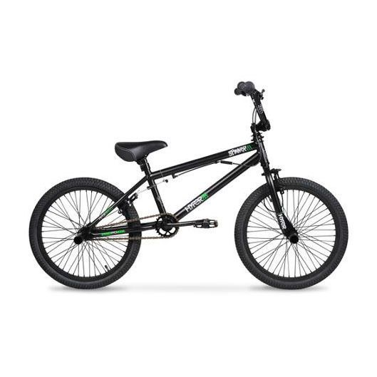 20 Bmx Bike Hyper Spinner Pro Boys Black Green Street Freestyle 360 Black Green Bmx Bikes Bike Freestyle Bmx