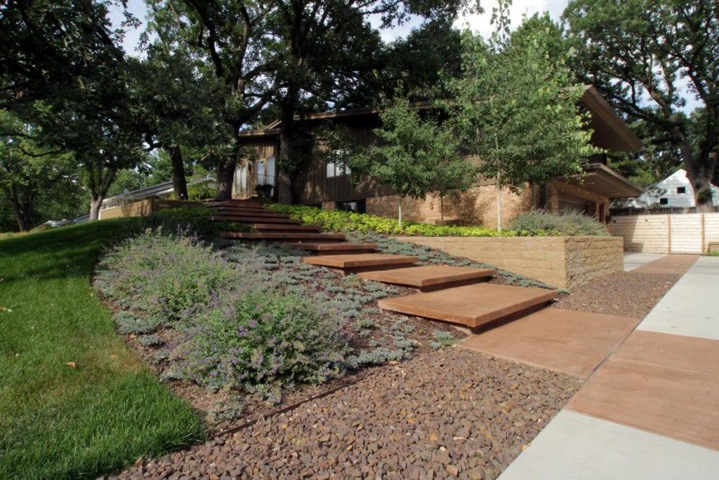 Mid Century Modern Landscaping Midwest Google Search Modern Landscape Design Mid Century