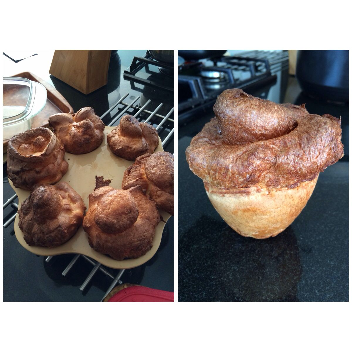 Giant Yorkshire Puddings Using The Pampered Chef Single