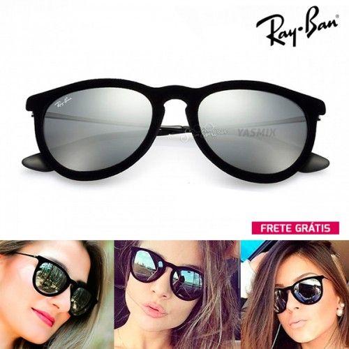13f4a54b0b9a8 Óculos de Sol Ray Ban Erika Veludo Espelhado …   Glasses   Pinte…