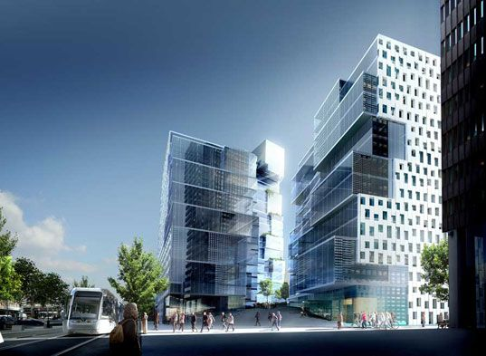 Oslo unveils trio of crystal clear towers hospitality - Modern architectural trio ...