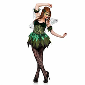 Size Chart >Please Note: We cannot accept returns or exchanges on costumes or costume accessories. Click here for further information.  This costume includes a dress with sparkle lace, velvet and sparkle tulle, arm bands, headpiece, and wings.