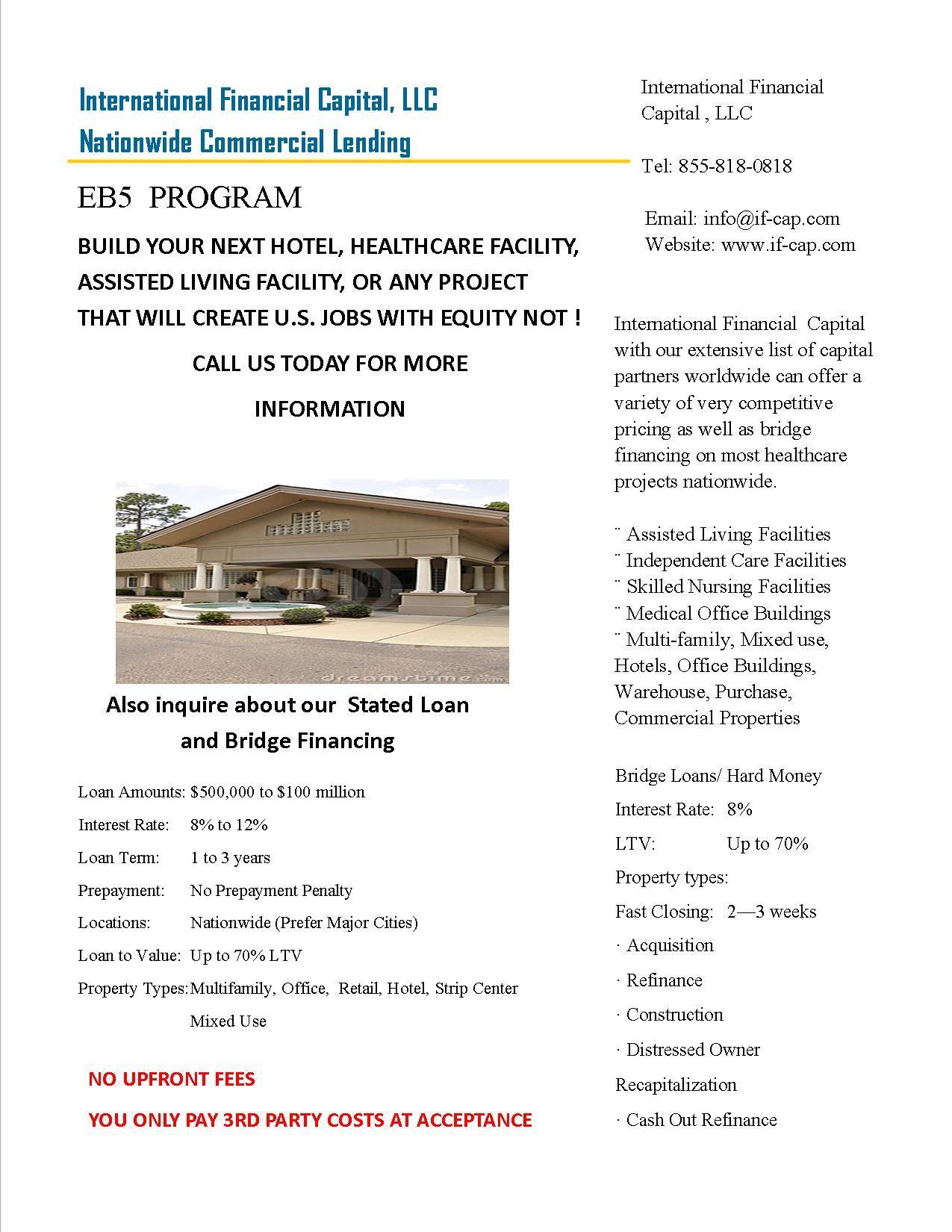 International Financial Capital Llc Nationwide Commercial Lending