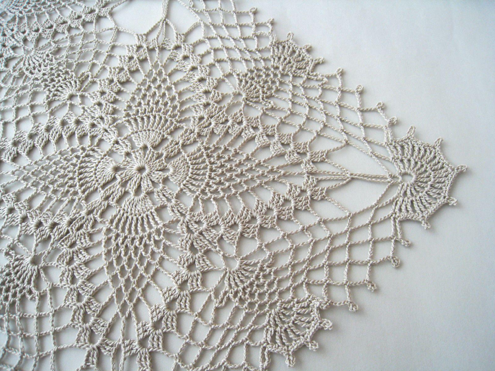 Crochet Square Lace Tablecloth Color Linen Table Topper Flower Motif | ...  Crochet Square Lace Tablecloth Color Linen Table Topper Flower Motifs