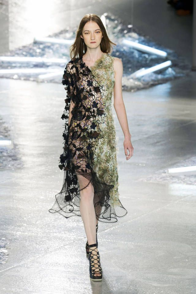Rodarte Spring 2015. See all the best #NYFW runway looks here: