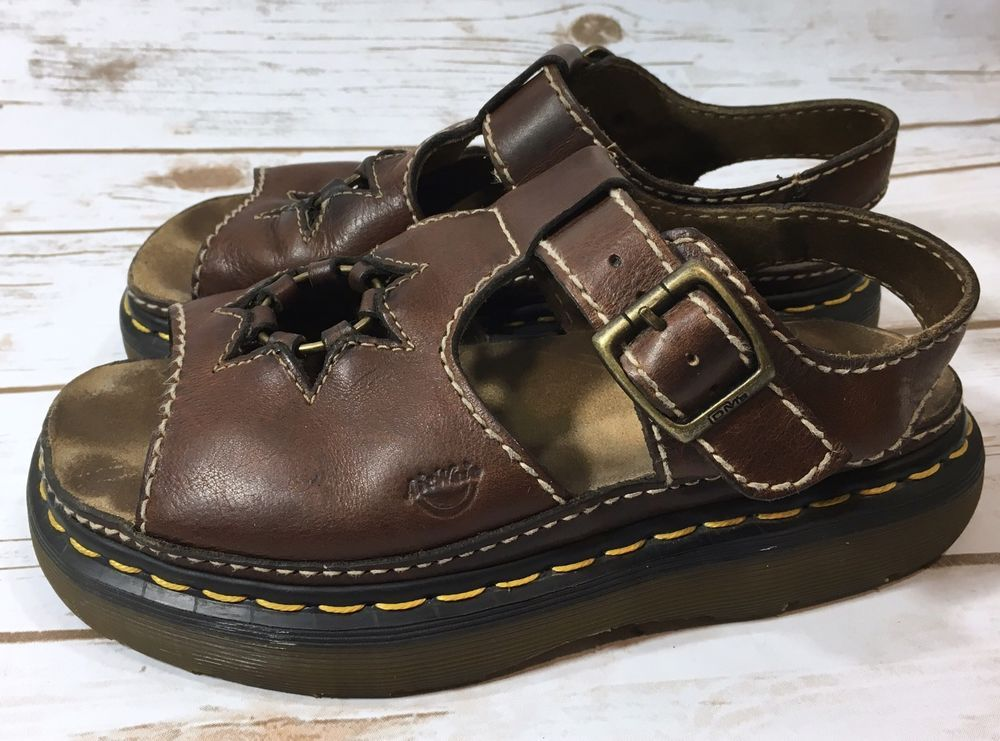 12c09501e22b Vintage 90s Dr Martens Docs Brown Leather Star Sandals Womens 8 US     England