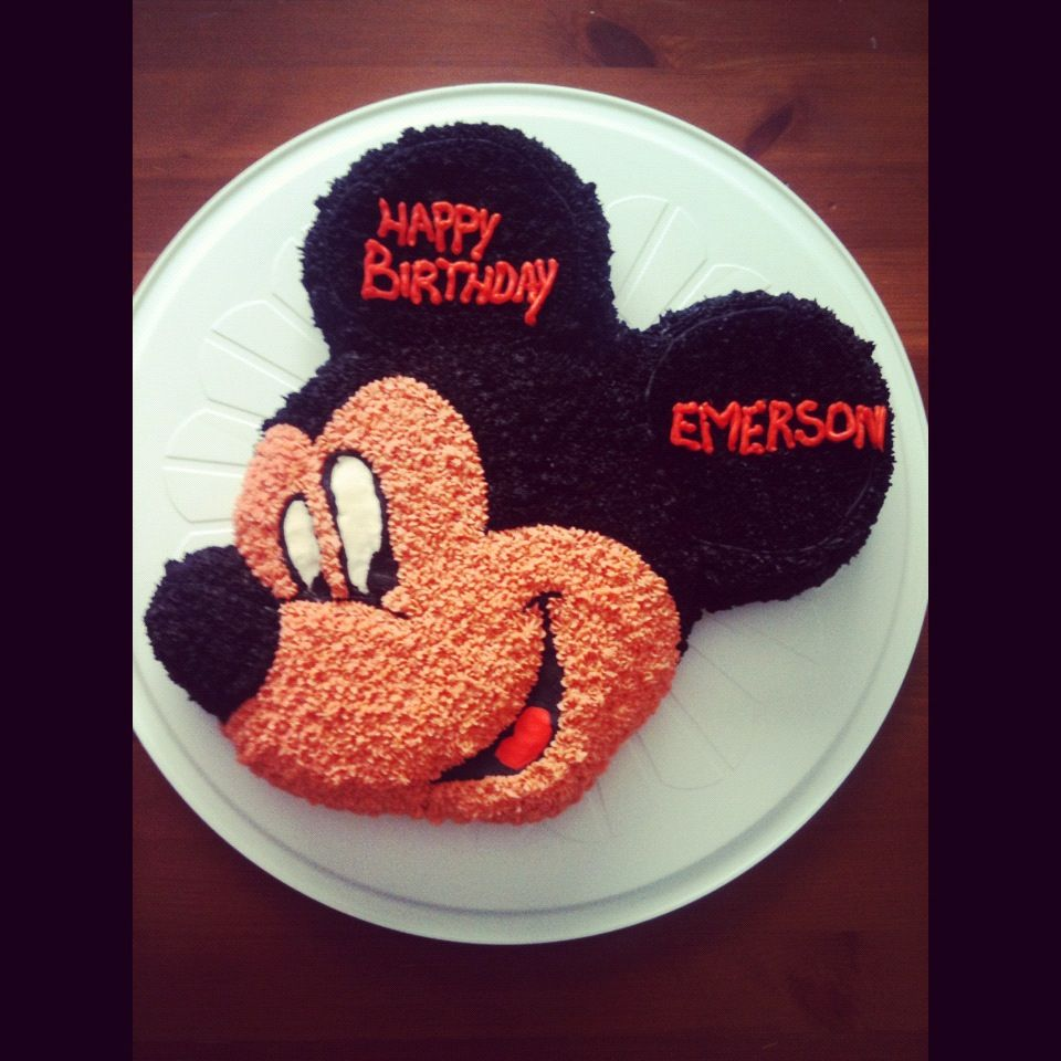 Mickey Mouse Cake.  Can get the mold on amazon.