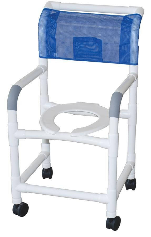 Healthcare grade PVC shower chairs won\'t rust, stain or fade color ...