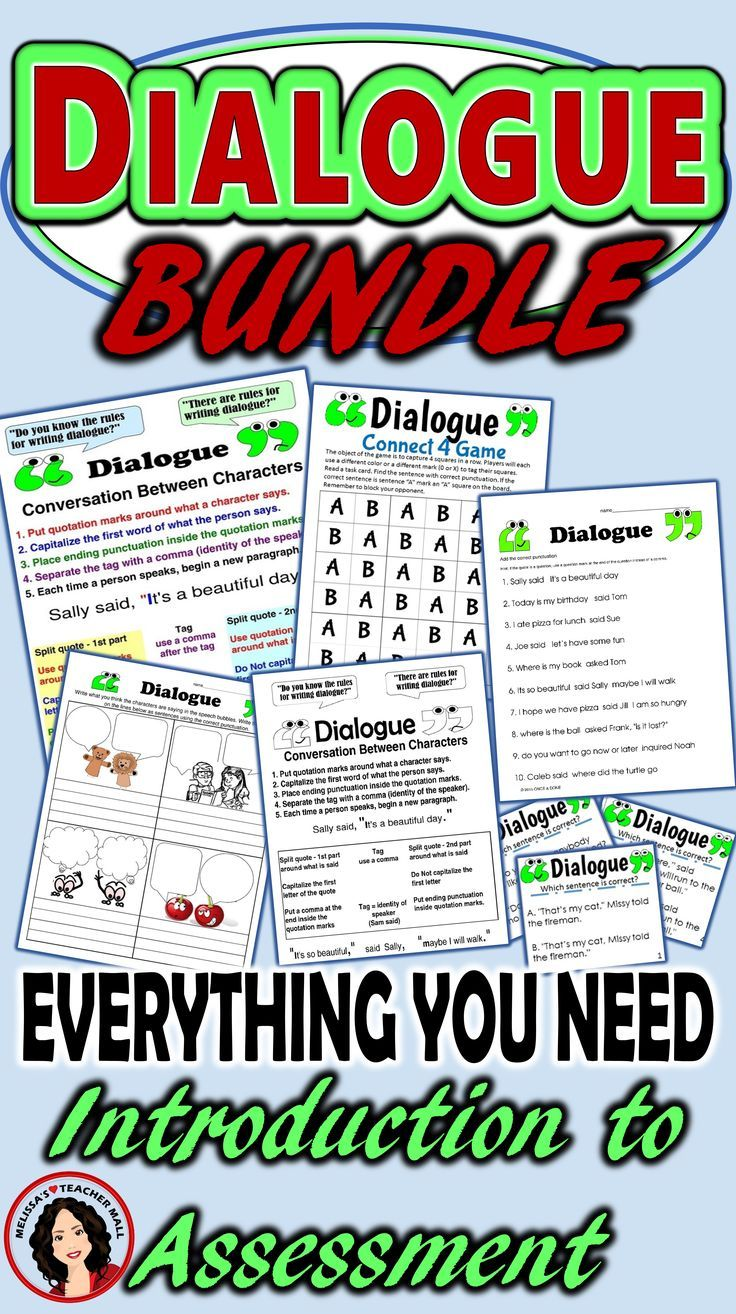 Dialogue Rules, Capitalization and Punctuation Bundle for Narrative ...