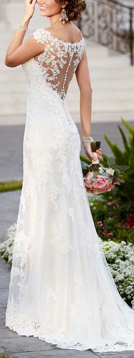 Rent designer wedding dress  Stunningly Beautiful Lace Back  dream wedding inspiration