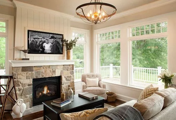 Ideas Small Room Fireplace And