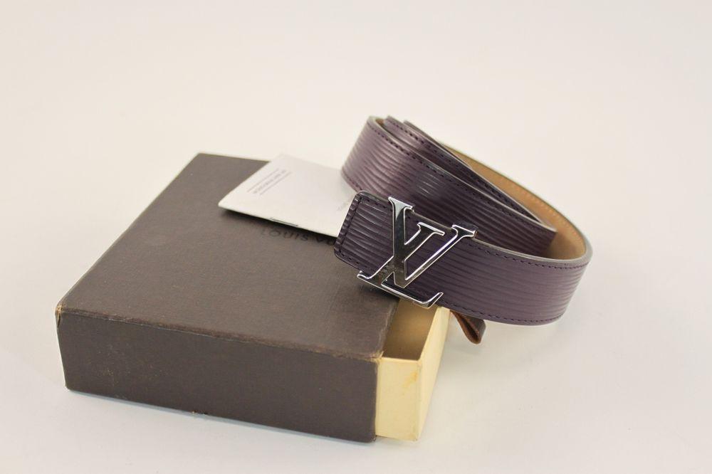 Authentic Louis Vuitton Unisex Purple LV Initials Epi