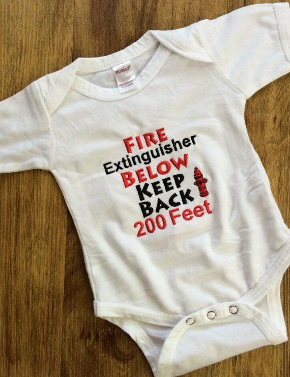 3517ed0a03d2c Firefighter baby gift, daddy firefighter shirt, firefighter baby ...
