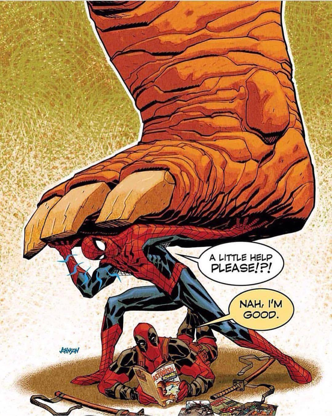Deadpool And Spider Man 1: Comics Art (@comics_hall) Deadpool