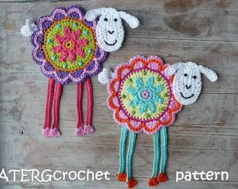 Crochet Pattern Flower Garden Magnets By Atergcrochet Pinterest