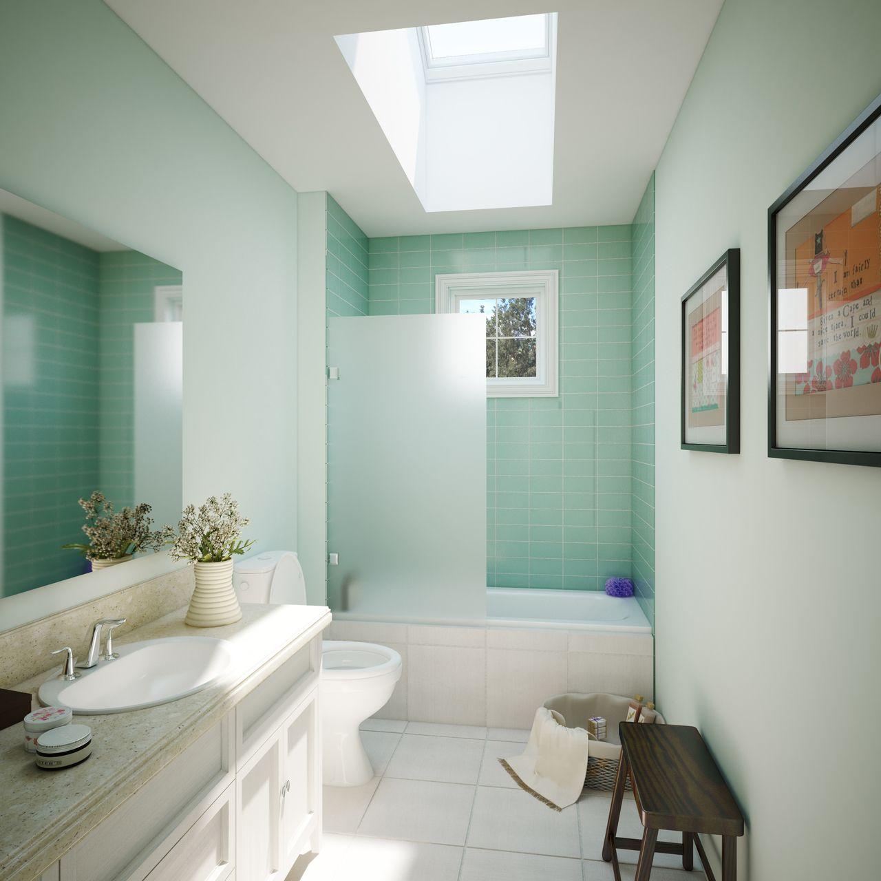 Modern Ative Tiles Bathroom Picture Collection - Bathtub Ideas ...