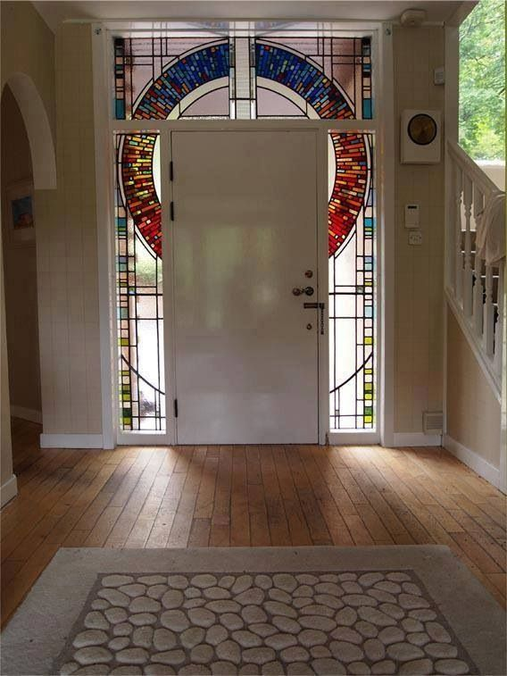 Stained Glass Door Surround Love Look But Different Design Around
