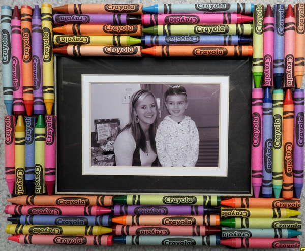 Crayon Picture Frame Baby Sitting Ideas Pinterest Crayon Art