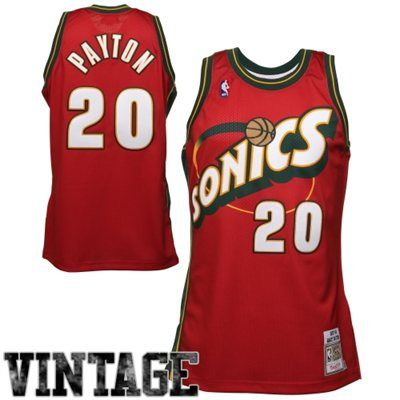 16a2044f8ef8 Mitchell   Ness Seattle SuperSonics Gary Payton 1997-98 Authentic Jersey -  Red
