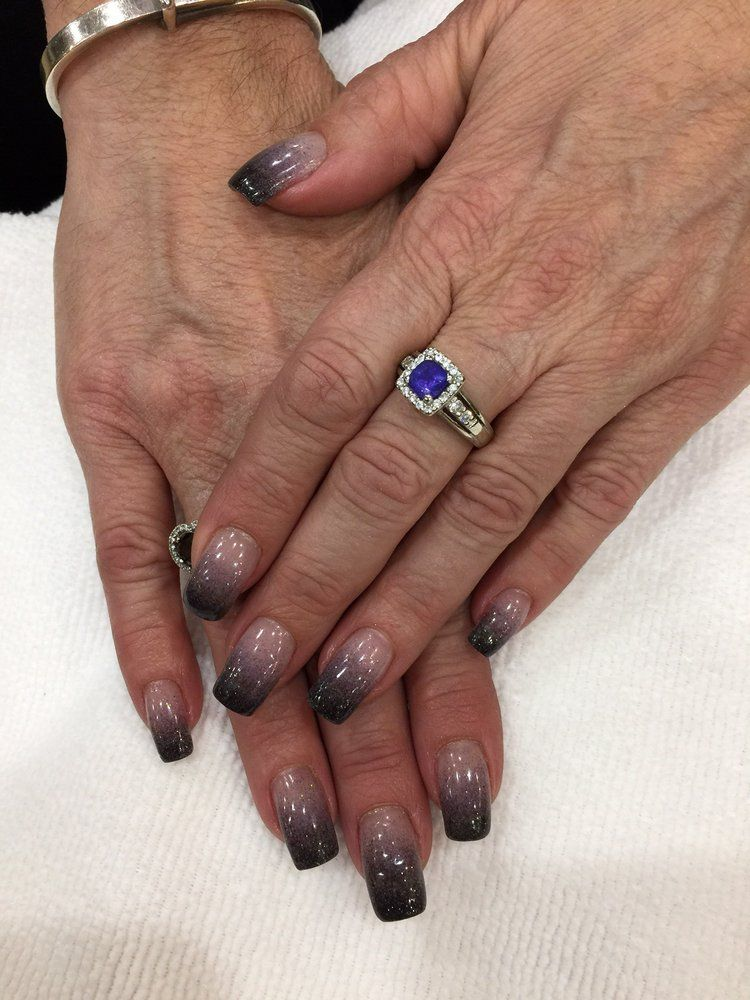 Elegant Touch Nails & Spa - Glendora, CA, United States. SNS nails ombré on natural nails
