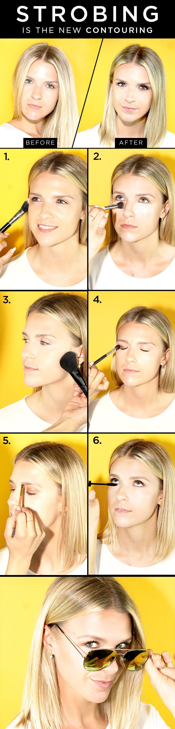 Bye, contouring! Exactly how to perfect the art of strobing.