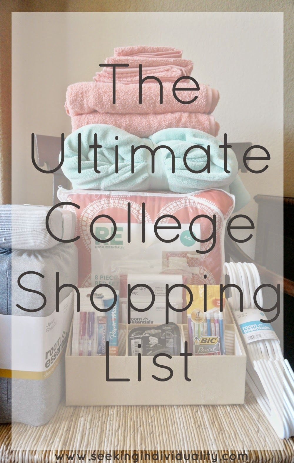 The Ultimate College Shopping List #collegedormroomideas