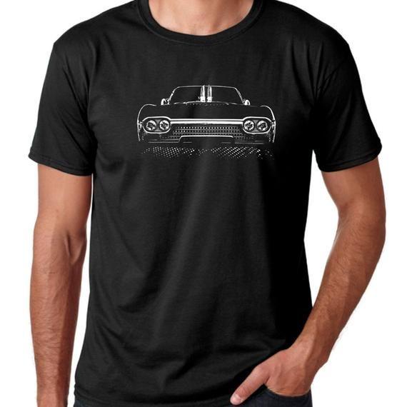 Classic car, Blown 1962 Thunderbird, 100% cotton summer weight Black mens T-Shirt