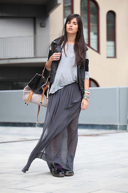 cba3fbf45 Looks con faldas largas - Trendtation | My Style | Pinterest ...