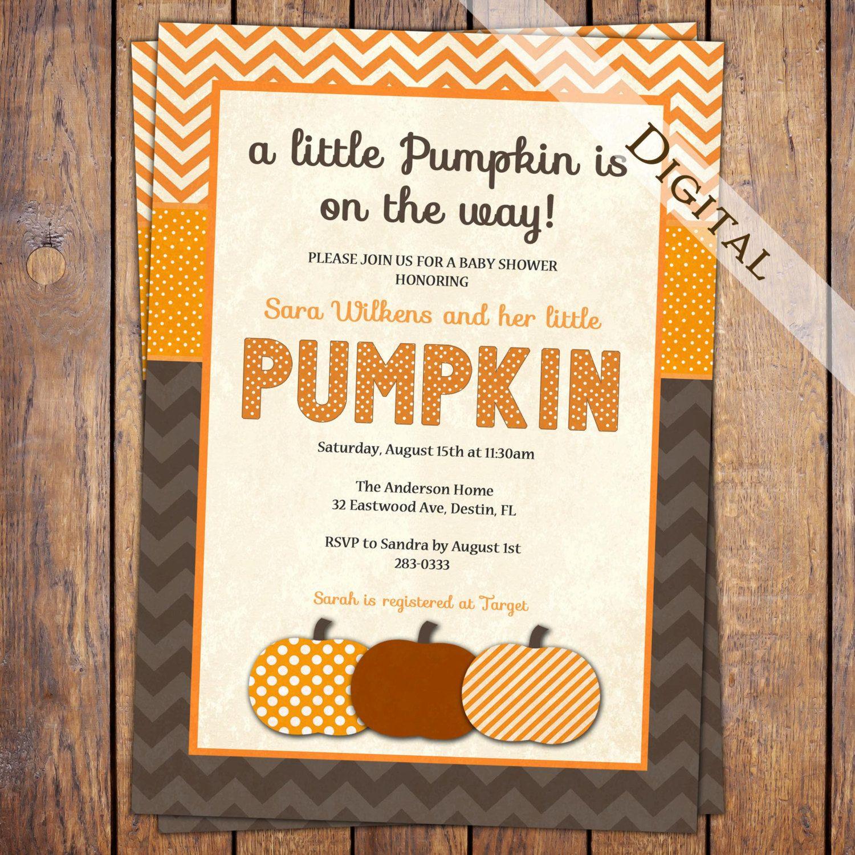 pumpkin baby shower invitation fall baby shower by JoyInspiration ...