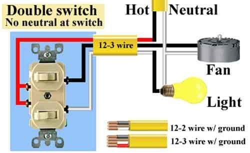 image result for double switch wiring