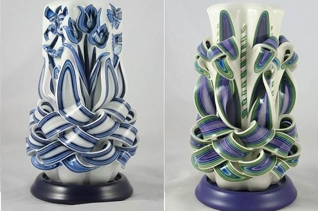Desert illusion: Amazing Hand Carved Candles